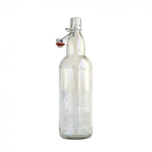 Бутылка бугельная с пробкой, бесцветное стекло 0,5 л