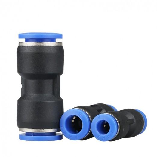 Фитинг цанговый соединитель трубка-трубка PU 10 мм (под шланг 8мм)