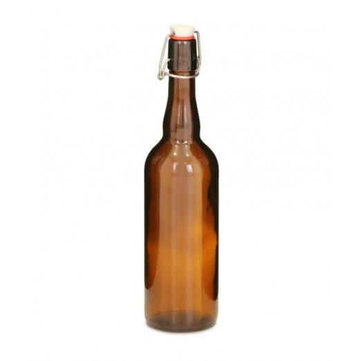 Бутылка бугельная с пробкой, коричневое стекло 0,75 л