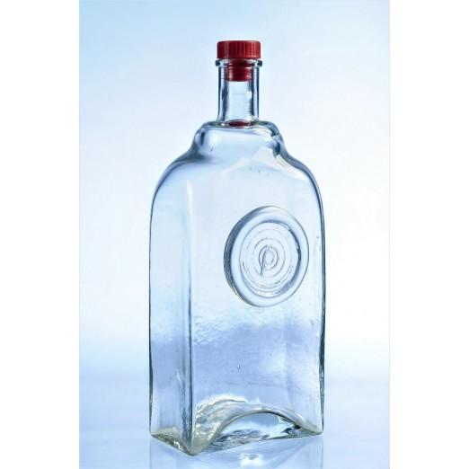"""Бутылка стеклянная """"Слеза"""" 2 л с пробкой"""