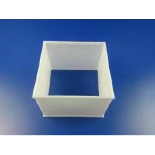 Форма для сыра (кубическая перфорированная без дна) 120х120х58мм