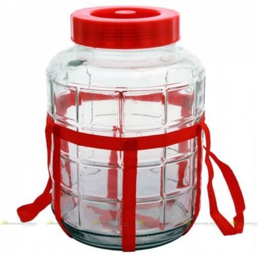 Бутыль стеклянный 23 л с крышкой гидрозатвором